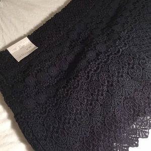 Ann Taylor Loft Navy Blue Lace Shorts Sz 0